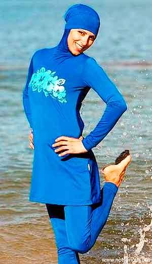 мусульманский женский купальный костюм