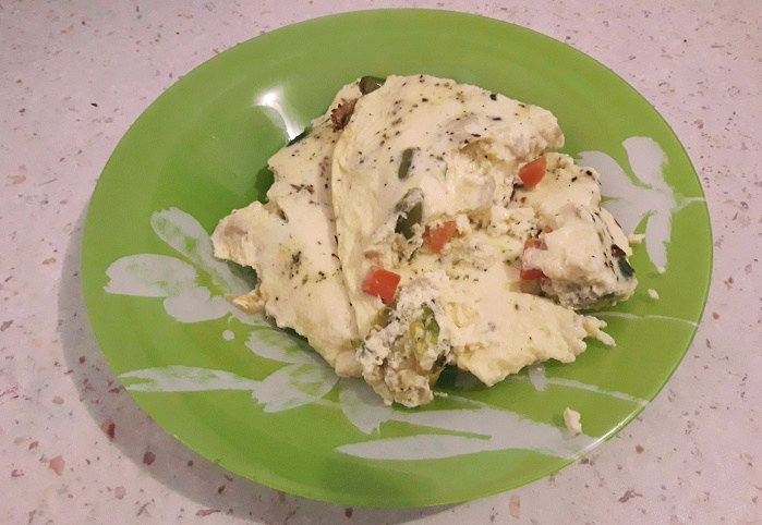 омлет с замороженными овощами