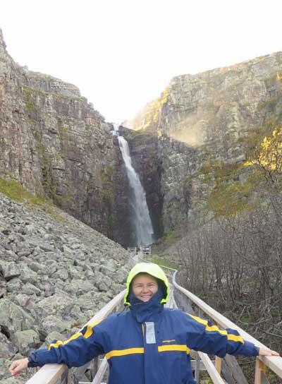 Водопад Ньюпешар в Швеции