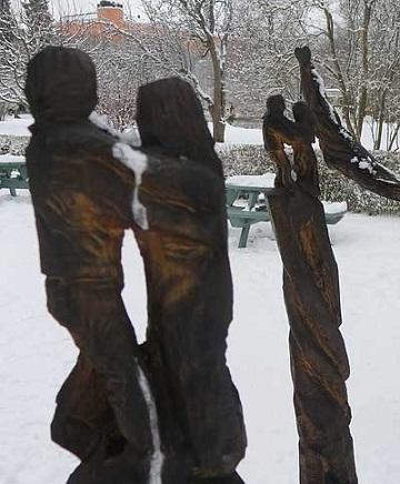 скульптура в парке Упсалы