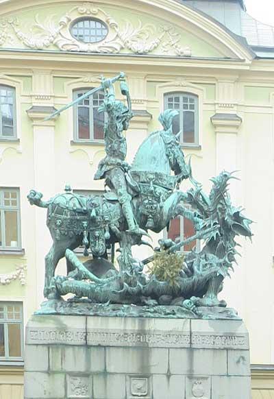 Памятник святому Георгу в Стокгольме